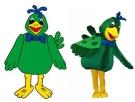 Vogelmaskottchen nach Entwurf